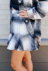 plaid ruffle skirt