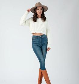 fiona frayed edge crop sweater