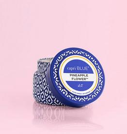 capri blue pineapple flower blue travel tin 8.5oz
