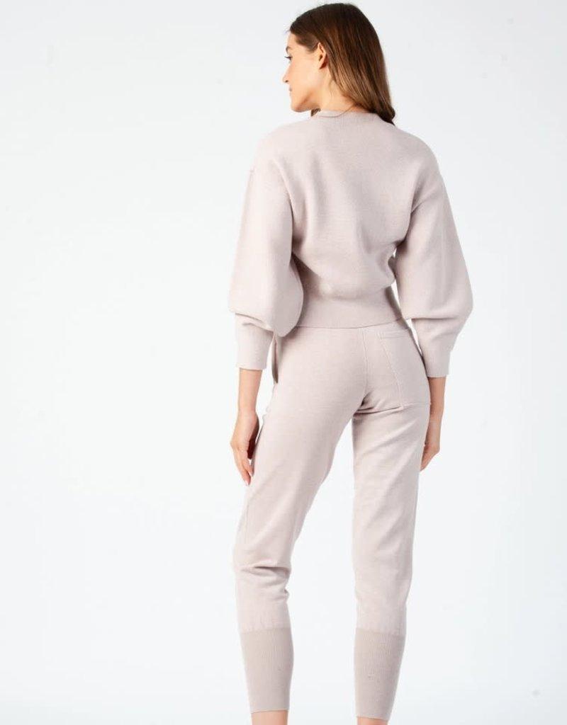 miranda bubble sleeve crop knit sweater