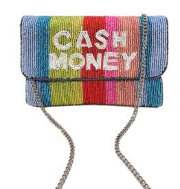 cash money mini beaded clutch