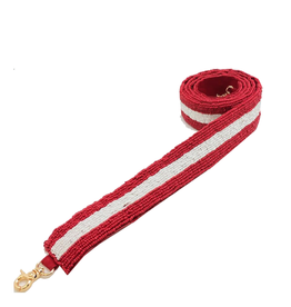 red & white beaded strap