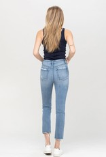 leona super high rise slim crop straight jean