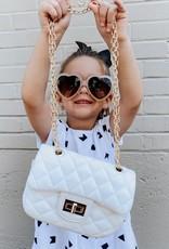 posh international kids white handbag