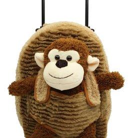 posh international kids monkey trolley bag