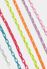 omg blings box chain enamel necklace