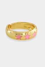 omg blings stars & gold enamel ring