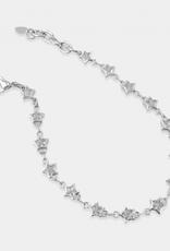 omg blings star chain bracelet - silver