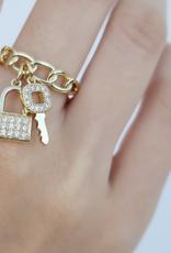 omg blings curb chain charm ring