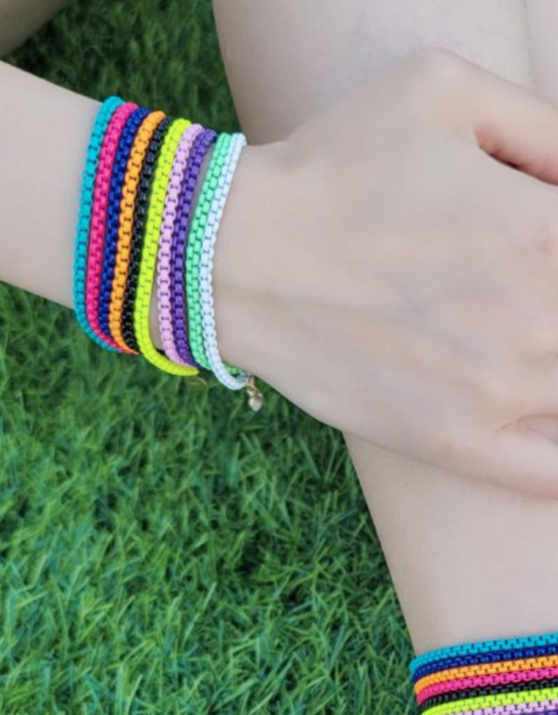 omg blings cable chain enamel bracelet
