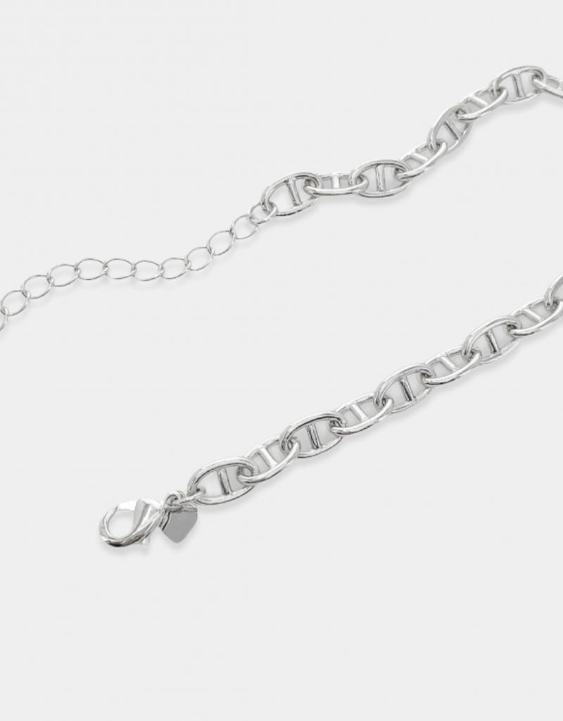 omg blings mariner chain bracelet - silver