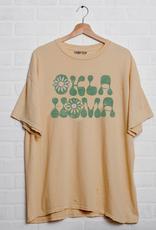 LivyLu oklahoma flower thrifted tee
