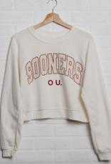 LivyLu ou gault crop raglan sweatshirt