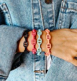 omg blings mariner chain link enamel bracelet