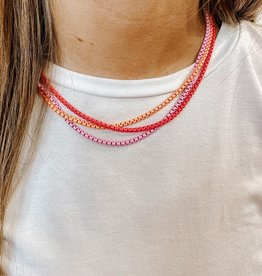 omg blings cable chain enamel necklace