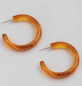 acrylic hoops - amber