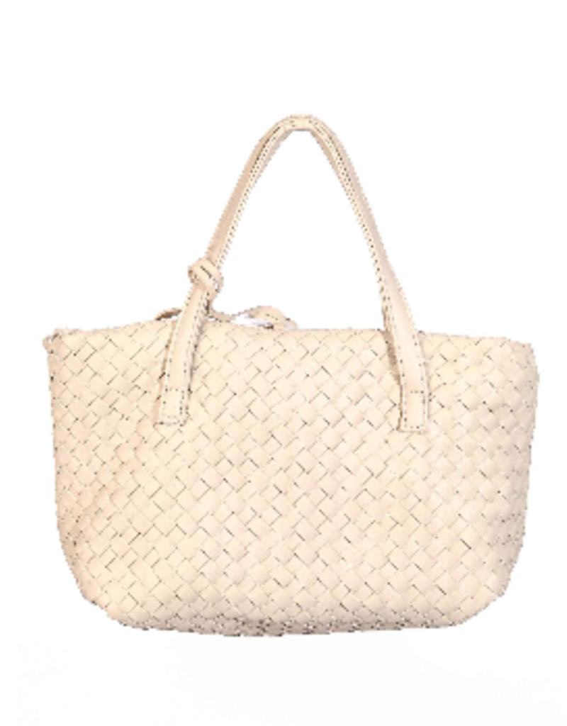 braided bag - ivory
