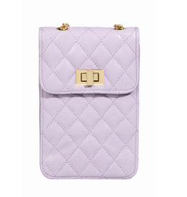 quilted phone bag - purple