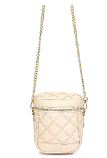 quilted bucket bag - oat
