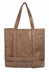 hat holder bag - brown