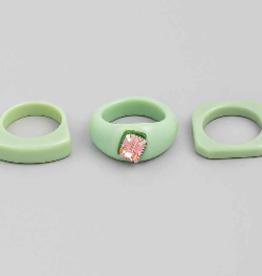 acrylic ring set of 3