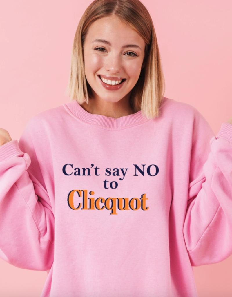 can't say no sweatshirt