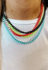 omg blings curb chain enamel necklace