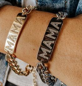omg blings mama curb chain bracelet