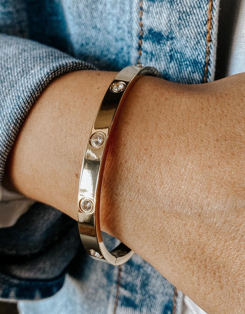 omg blings studded bracelet - gold