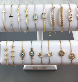 nikki smith designs golden slider bracelet