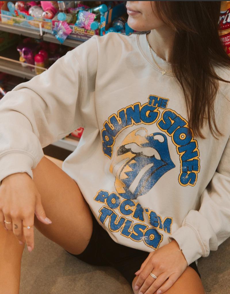 LivyLu rolling stones rock em tulsa thrifted sweatshirt