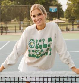LivyLu oklahoma flower thrifted sweatshirt