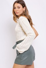 one shoulder long sleeve sweater top