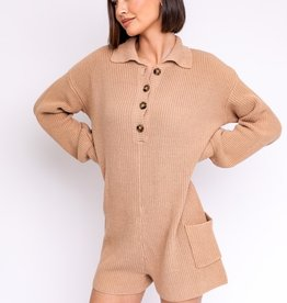 knitted long sleeve romper