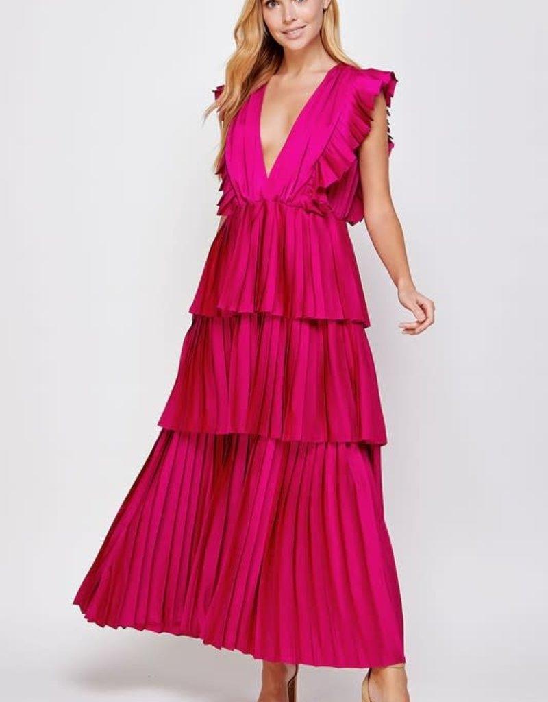 nothing but ruffles maxi dress