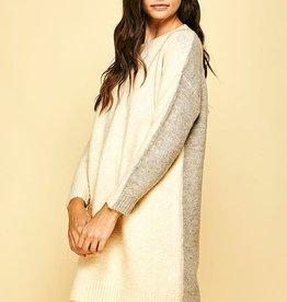 pinch colorblock sweater dress