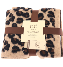 cheveux corp baby leopard stroller blanket