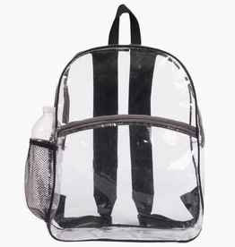 Desden clear backpack - black trim
