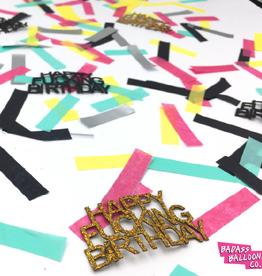 Badass Balloon Co. happy f*king birthday confetti