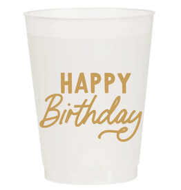 happy birthday cup stack 10