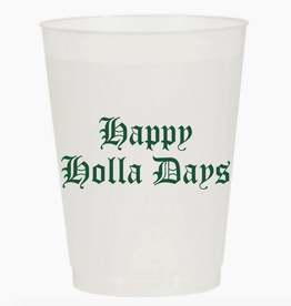 happy holla days cup stack 10