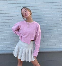 cut out cropped sweater