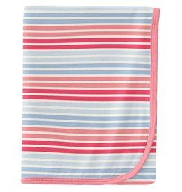 kickee pants cotton candy stripe swaddling blanket