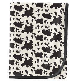 kickee pants cow print swaddling blanket