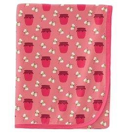 kickee pants strawberry bees and jam swaddling blanket