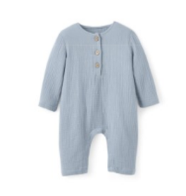 baby muslin button jumpsuit