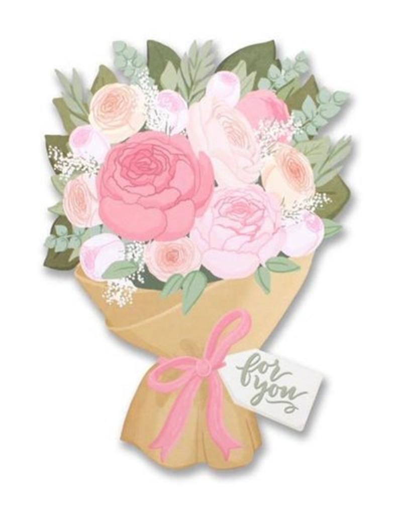 flower bouquet die cut card