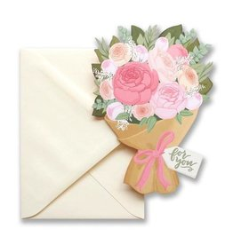 flower bouquet die cut card