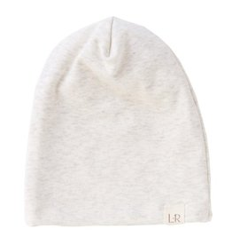 heathered cream slouchy beanie FINAL SALE