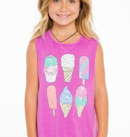 chaser ice creams vintage jersey tank top FINAL SALE